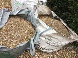 Pea shingle ready for collection
