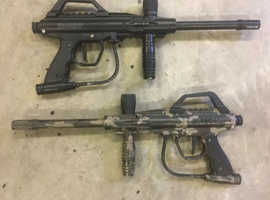 12 Paintball Guns, With CO2 Tanks, For Spares Or Repair