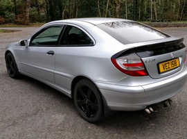 Mercedes C CLASS, 2007 Silver Coupe, Automatic Diesel, 106,000 miles