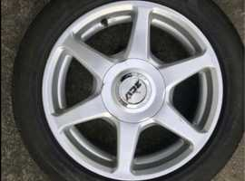 Set of 4. 15 inch ZCV Alloy Wheels. 5 stud with good tyres.