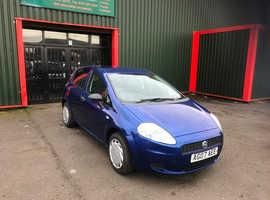 Fiat Grande Punto, 2007 (07) Blue Hatchback, Manual Petrol, 79,000 miles