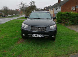 Hyundai Santa Fe, 2006 (56) Black 7 Seats, Manual Diesel, 127,000 miles