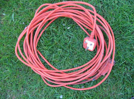 FLYMO LAWN MOWER 10 METRE MAINS POWER LEAD, CABLE, WIRE IN GOOD CONDITION