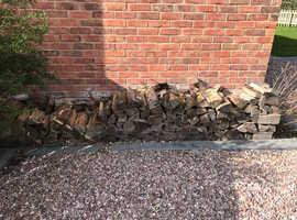 2 piles of Seasoned logs £50 ideal for garden heaters etc