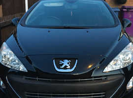 Peugeot 308, 2010 (60) Black Convertible, Manual Petrol, 61,222 miles