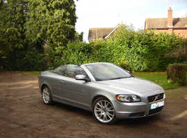 Volvo C70, 2008 (58) Silver Convertible, Automatic Diesel,  Excellent condition, only 1 former keeper, Full MOT
