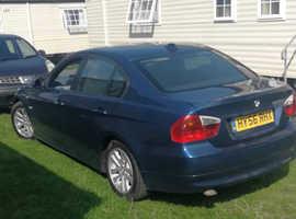 BMW 3 Series, 2006 (56) Blue Saloon, Manual Diesel, 247,000 miles