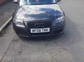 Audi A3, 2008 (08) Grey Hatchback, Manual Petrol, 135,000 miles