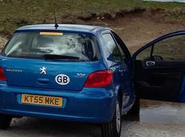 Peugeot 307, 2006 (55) Blue Hatchback, Manual Petrol, 90,000 miles
