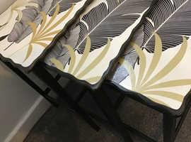 Restyled vintage nest of tables
