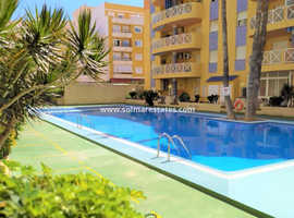 Costa Blanca Furnished Beachside 1 Bed Apartment in Gated Community - Torrevieja