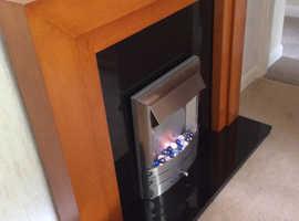 Stylish modern electric fire and surround