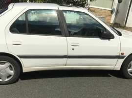 Peugeot 306, 1996 (P) White Hatchback, Manual Diesel, 129,000 miles