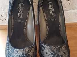 New Look Lace Stiletto Shoes Size 7