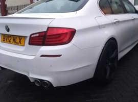 BMW 5 Series, 2012 (12) White Saloon, Manual Diesel, 91,000 miles