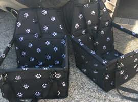 2 x dog/ puppy car seats