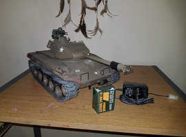 Rc tank with lights smoke exhaust sound shoots bbs