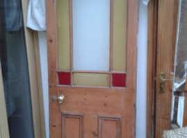 Victorian internal stained glass door
