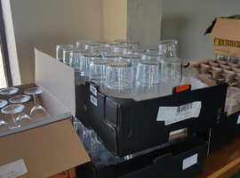 Large number of used bar Glasses
