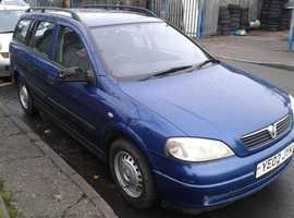 Vauxhall Astra, 2002 (02) Blue Estate, Manual Diesel, 180,614 miles