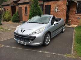 Peugeot 207CC GT, 2008 (08) Silver Convertible, Manual Petrol, 58,518 miles Excellent Condition