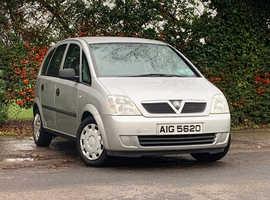 Vauxhall Meriva 1.4 LIFE, 2005 (05) Silver MPV, Manual Petrol, 128,039 miles, NEW 12 MONTH MOT