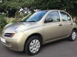 Nissan Micra, 2003 (03) Gold Hatchback, Manual Petrol, 101,000 miles