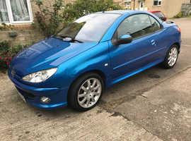 Peugeot 206, 2005 (05) Blue Coupe, Manual Petrol, 78,522 miles