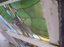STAIN GLASS PANAL LEADED GLASS  EX LARGE WINDOW 1929