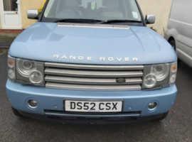Land Rover Range Rover, 2002 (52) Blue Estate, Automatic Diesel, 89,000 miles