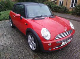 Mini Cooper Convertible 1.6 Petrol Red MOT 12/05/2020 Full Leather