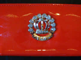 Shiny Red Purse With 'Fashion' Buckle (new)