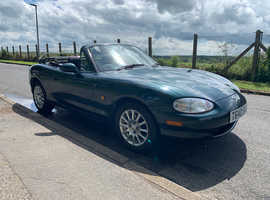 Mazda MX-5, 1999 (T) Green Convertible, Manual Petrol, 94,000 miles