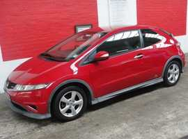 Honda Civic, 2009 (09) Red hatchback, Manual Petrol, 120 miles