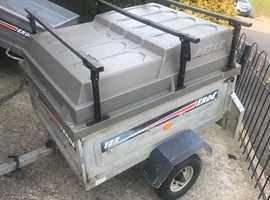 Erde tipping trailer + hardtop/roofbars
