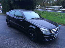 Mercedes CLC-CLASS, SE  2008 (08) black coupe, Automatic Diesel, 89,000 miles HPI CLEAR