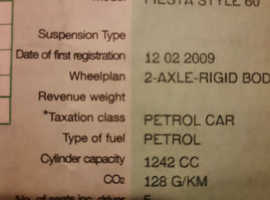Ford Fiesta, 2009 (58) Blue Hatchback, Manual Petrol, 98,000 miles