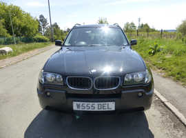 BMW X3, 2005 (05) Black Estate, Manual Diesel, 126,000 miles
