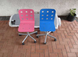 CHILDREN'S CHAIRS IKEA WITH WOODEN SEATS