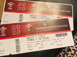 Wales v Italy Six Nations x 2 tickets