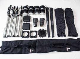 Porta Flash 360 watt studio lighting kit