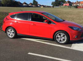 Ford Focus, 2014 (14) Red Hatchback, Manual Diesel, 45,502 miles
