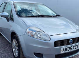 Fiat Grande Punto, 2006 (06) Grey Hatchback, Manual Petrol, 121,618 miles