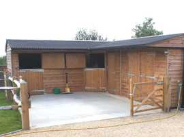 Shropshire garden buildings and sheds build bespoke stables made to your specification