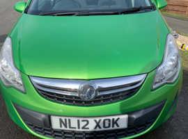 Vauxhall Corsa, 2012 (12) Green Hatchback, Manual Petrol, 72,447 miles