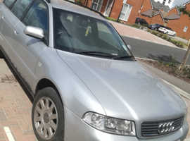 Audi A4, 2000 (X) Silver Estate, Manual Diesel, 135,000 miles turbo removed needs to be towed