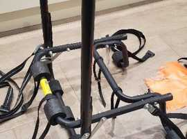 Rear Mount Bike carrier with non-slip rubber locators and security straps.