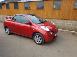 Nissan Micra, 2006 (06) Red Convertible, Manual Petrol, 87,201 miles