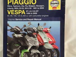 PIAGGIO / VESPA HAYNES WORKSHOP MANUAL.