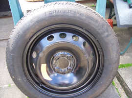 space saving spare wheel and tire